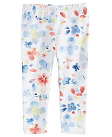 Baby Girls Butterfly-Print Leggings, Created for Macy's