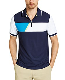 Men's Colorblocked Sporty Polo Shirt, Created for Macy's