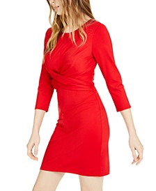 INC Cross-Front Sheath Dress, Created For Macy's