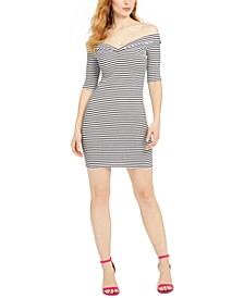 Bridig Striped Off-The-Shoulder Dress