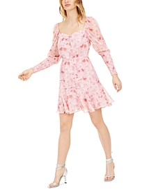 Floral-Print Shirred Dress, Created For Macy's