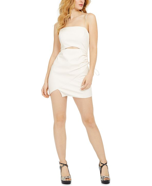 GUESS Moxie Faux-Leather Toggle Dress