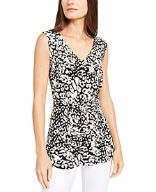 Printed Buckle-Front Top, Created for Macy's