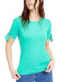 Tie-Sleeve Knit Top, Created for Macy's