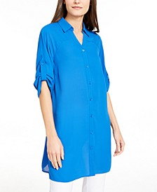 Roll-Tab Tunic Shirt, Created for Macy's