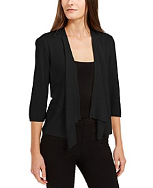 Petite Draped Open-Front Cardigan, Created for Macy's