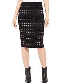 Dot-Stitch Pull-On Pencil Skirt, Created For Macy's