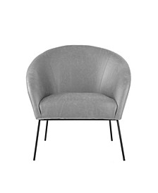 Catriona Barrel Accent Chair with Metal Legs