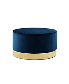 Apoplline Upholstered Cocktail Ottoman with Metal Base