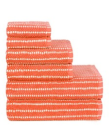 Sapphire Resort Mcbee Waffle Texture 6 Piece Towel Set