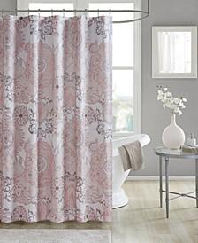 "Isla 72"" x 72"" Cotton Printed Shower Curtain"