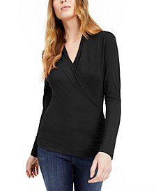 INC Petite Surplice Top, Created for Macy's