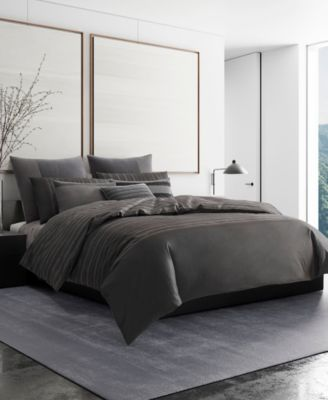 Vera Wang Shadow Stripe King Duvet Cover