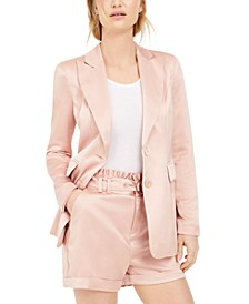 Satin Boyfriend Blazer, Created for Macy's
