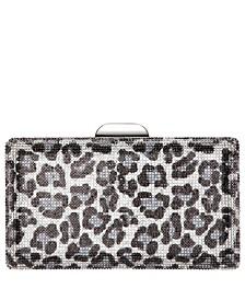 Exotica Crystal Leopard Minaudiere Clutch