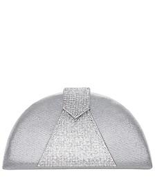 Bijou Half-Moon Crystal Embellished Clutch