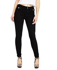 1981 Flap-Pocket Black Skinny Jeans