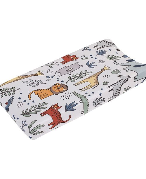 Carter's Safari Party Plush Changing Pad Cover