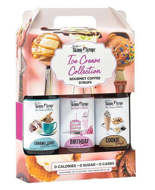 Jordan's Skinny Mixes Ice Cream Collection Trio- Birthday Cake, Carmel Fudge Waffle Cone, Cookie Dough