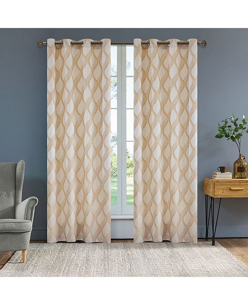 "Lyndale Decor Rivoli Room Darkening Curtain, 84"" L x 54"" W"