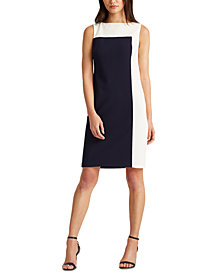 Lauren Ralph Lauren Two-Tone Jersey Dress