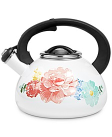 2-Qt. Enamel on Steel Floral Tea Kettle, Created for Macy's