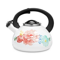 Deals on Martha Stewart Garden Party 2-Qt. Enamel on Steel Tea Kettle