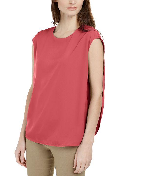 Alfani Inverted Petal-Back Top, Created for Macy's