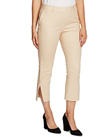 Side-Slit Cropped Pants
