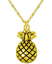 """Pineapple Pendant Necklace in Gold-Plate, 16"""" + 2"""" extender"""