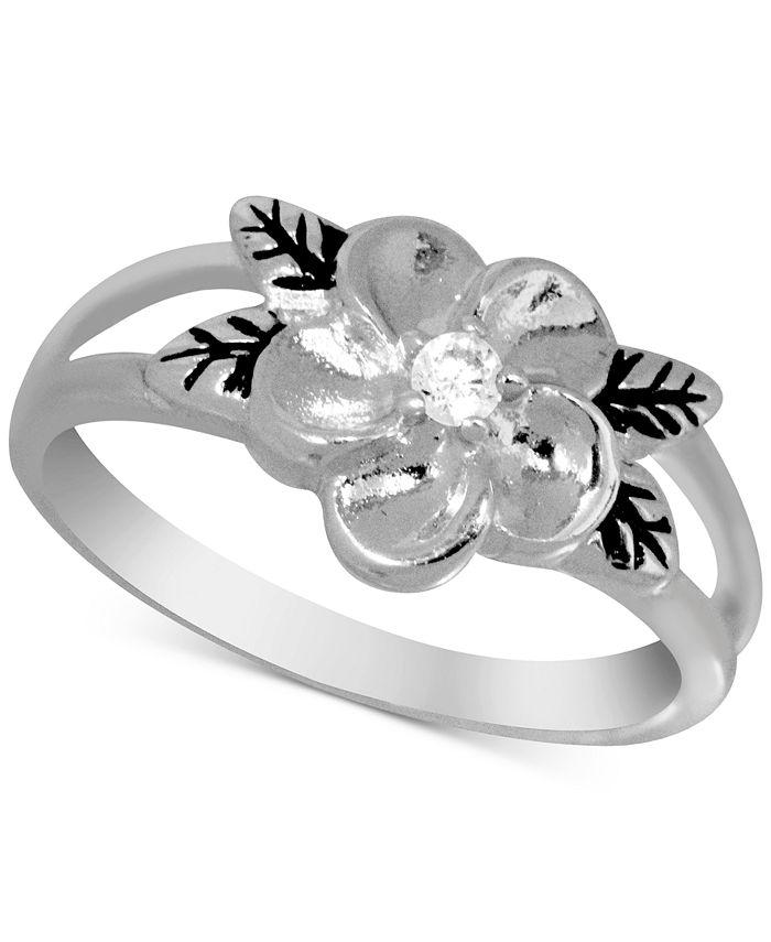 Kona Bay - Flower Ring in Fine Silver-Plate