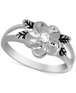 Flower Ring in Fine Silver-Plate