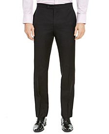 Men's Classic-Fit UltraFlex Stretch Black Solid Tuxedo Pants