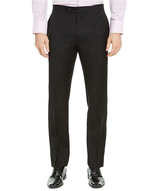 Lauren Ralph Lauren Men's Classic-Fit UltraFlex Stretch Black Solid Tuxedo Pants