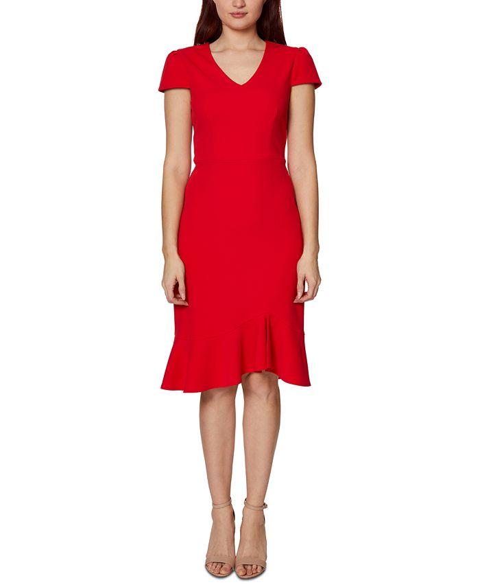 Betsey Johnson - V-Neck Flounce A-Line Dress