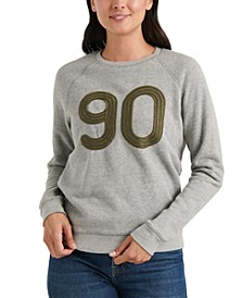 Embroidered 90 Graphic Sweatshirt
