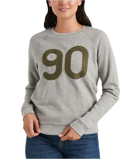 Lucky Brand Embroidered 90 Graphic Sweatshirt