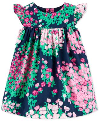 Carters Baby Girls Floral Poplin Dress