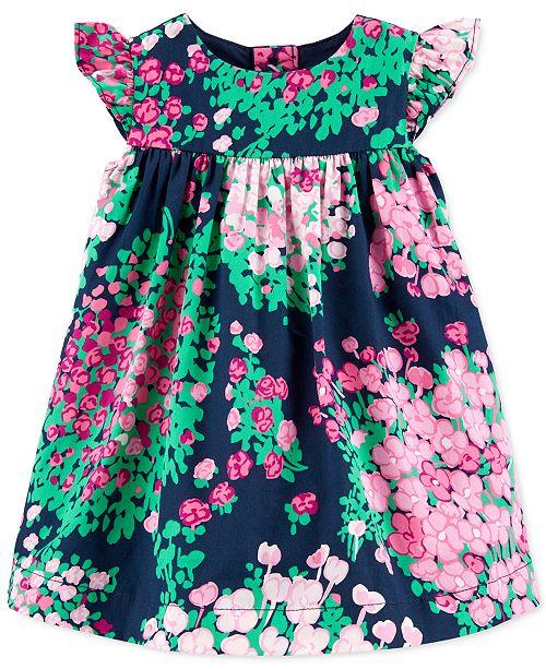 Carter's Baby Girls Floral-Print Sateen Dress