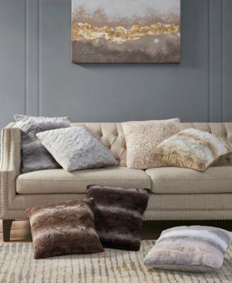 "Zuri Faux-Fur 20"" Decorative Pillow"