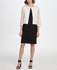 DKNY Georgette Sleeve Cardigan