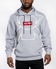 Men's Astroboy Premium Power Fleece Chenille Patch Pullover Hoodie