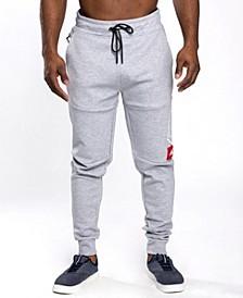 Men's Astroboy Premium Power Fleece Chenille Patch Jogger Pants