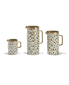Katla Brown Speckled Pitchers - Set of 3