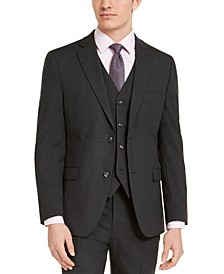 Men's Slim-Fit Stretch Charcoal Solid Suit Jacket, Created For Macy's