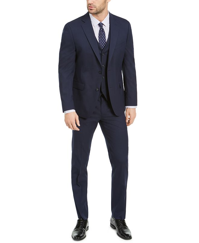 Alfani Men's Slim-Fit Stretch Solid Suit Separates, Created for Macy's