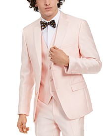 Men's Slim-Fit Stretch Pink Solid Tuxedo Jacket, Created For Macy's