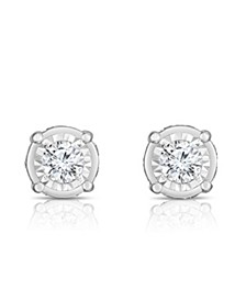 Diamond (1 1/2 ct. t.w.) Stud Earrings in 14k White Gold