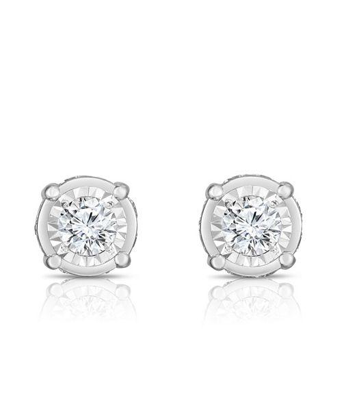 TruMiracle Diamond (1 1/2 ct. t.w.) Stud Earrings in 14k White Gold