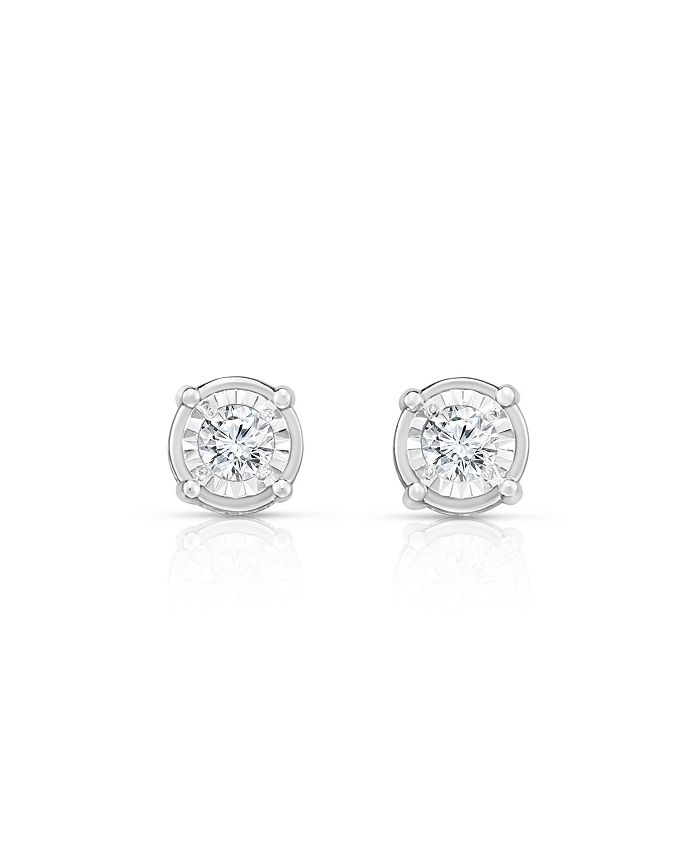 TruMiracle - TRUMIRACLE® Diamond (1/2 ct. t.w.) Stud Earrings in 14k White Gold